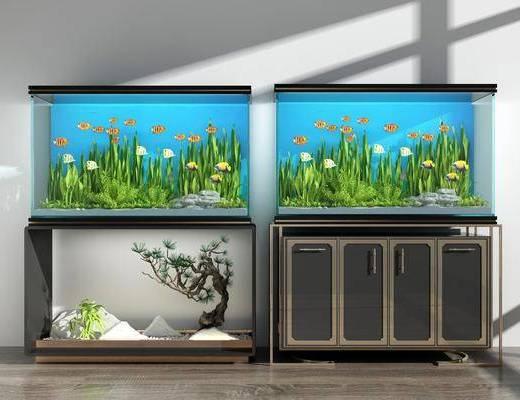 新中式鱼缸, 鱼缸