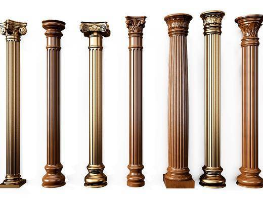 欧式罗马柱, 罗马柱, 金属柱子