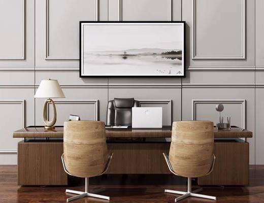洽談桌, 老板桌椅, 書桌, 電腦桌, 現代辦公桌