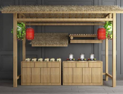 茅草屋, 中式茅草屋