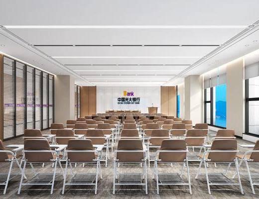 会议室, 单人椅, 会议椅, 前台, 现代