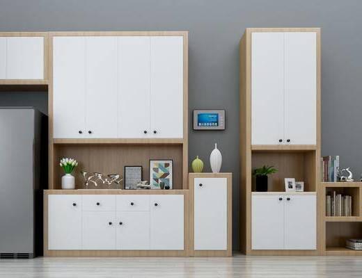 柜架组合, 北欧柜架组合, 酒柜, 鞋柜, 置物柜, 摆件, 书籍, 装饰品, 北欧