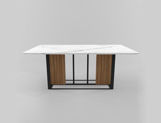 现代简约, 大理石, 桌子, 现代桌子