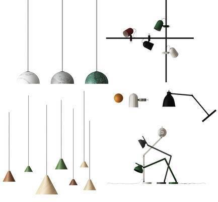 吊灯, 现代, 台灯, 壁灯