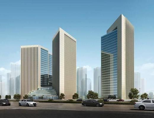 办公楼, 建筑, 商业街, 街道