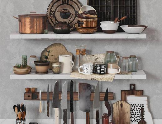美式简约, 厨房用品组合, 日用品组合, 刀具组合, corona