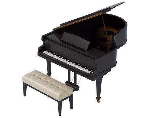 钢琴, 凳子, 现代