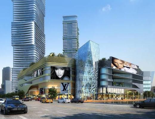 商业综合体, 商业建筑, 底商, 建筑, 商业大厦, 现代
