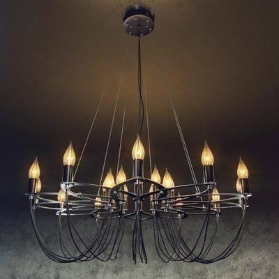 现代铁艺吊灯, 现代吊灯, 现代, 吊灯, 铁艺吊灯, 金属吊灯