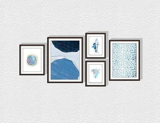 现代装饰挂画组合