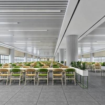 食堂, 饭店, 现代, 生态, 写实, 员工餐厅