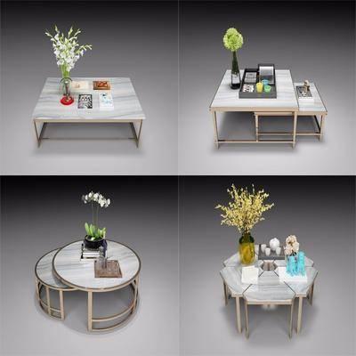 茶几, 摆件, 花瓶, 花卉, 装饰品, 陈设品, 边几, 现代