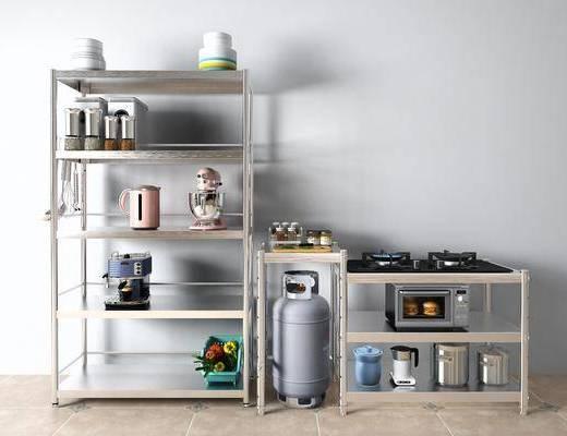 现代咖啡机, 燃气灶, 微波炉