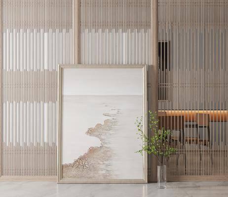 现代玄关走廊挂画