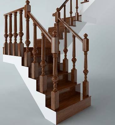 实木楼梯, 中式