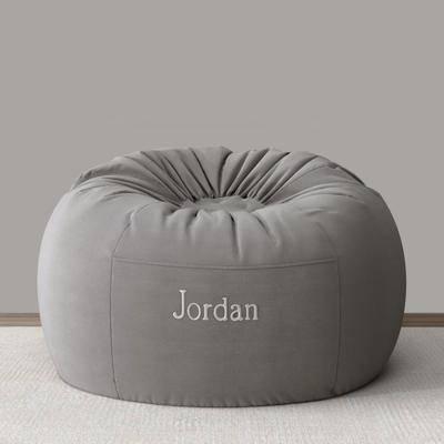单人沙发, 懒人沙发, 布艺, 休闲沙发, 现代