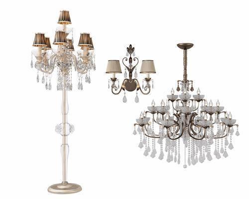 吊灯, 灯具组合, 落地灯, 壁灯, 欧式, 古典, 欧式灯具组合, 欧式吊灯, 欧式落地灯, 欧式壁灯