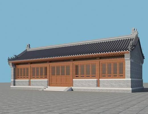 室外, 屋檐, 瓦片, 中式