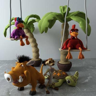 玩具组合, 玩具玩偶, 现代