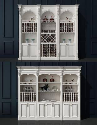 酒柜, 酒瓶, 装饰柜, 欧式