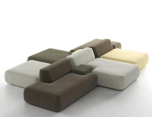 组合沙发, 沙发, 现代组合沙发, 现代