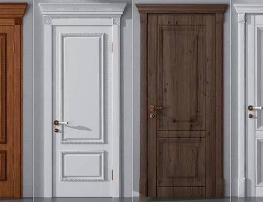 美式门, 木门, 平开门