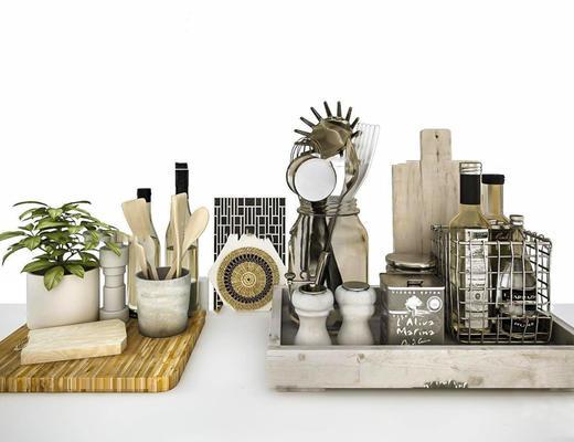 美式简约, 厨房, 日用品组合, 厨具组合