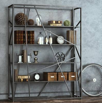工业风置物架, 现代装饰柜架