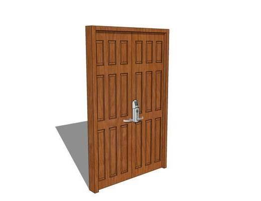 门, 房门, 单开门