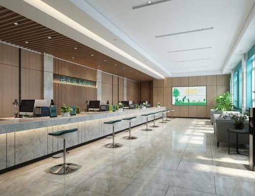单椅, 办事大厅, 服务中心, 大厅