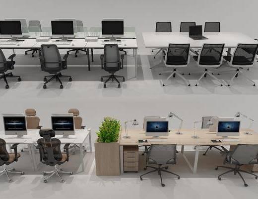 办公桌, 办公椅, 桌椅组合, 现代办公桌椅组合, 现代
