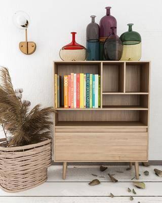 边柜, 柜架组合, 书柜, 摆件组合