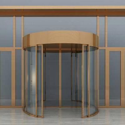 旋转门, 玻璃门, 门, 现代