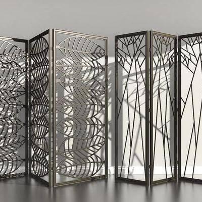 金属叶子, 造型镂花, 屏风隔断, 现代