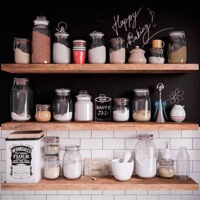 玻璃瓶, 调料瓶, 置物架, 现代