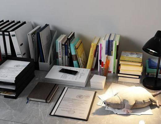 文件夹, 书籍杂志, 办公文具, 现代