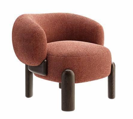 现代绒布沙发椅