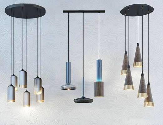 现代吊灯, 时尚吊灯, 吊灯, 灯具组合
