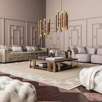 沙发组合, 现代沙发组合, 单椅