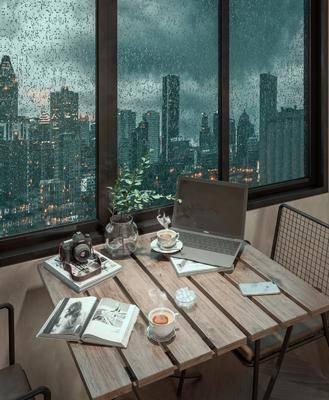 现代, 咖啡桌, 摆件