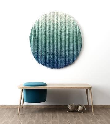 北欧, 椅子, 凳子, 挂画, 墙饰