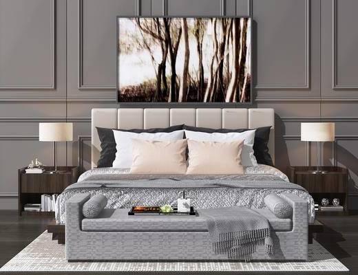 后现代双人床, 双人床, 床具组合