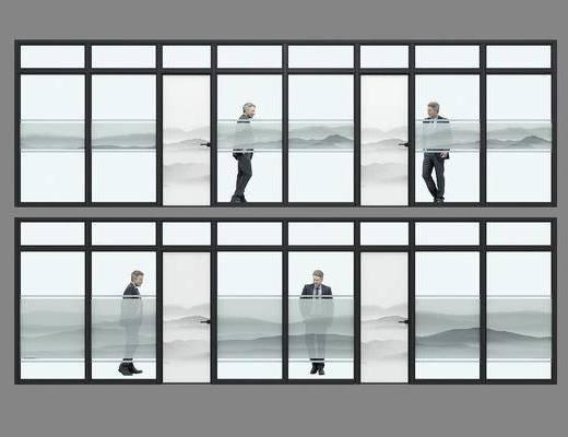 隔断, 玻璃, 现代隔断, 玻璃隔断, 窗户, 现代