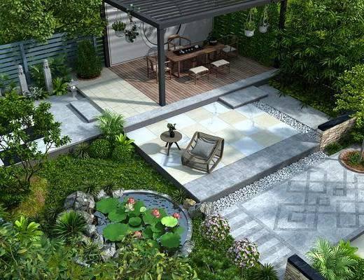 新中式, 庭院, 鸟瞰