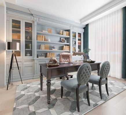 桌椅组合, 书柜, 落地柜