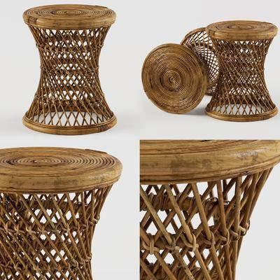 现代编织藤编凳子, 现代, 藤编, 凳子