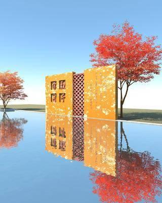园林景观小品, 雕塑墙, 文化墙