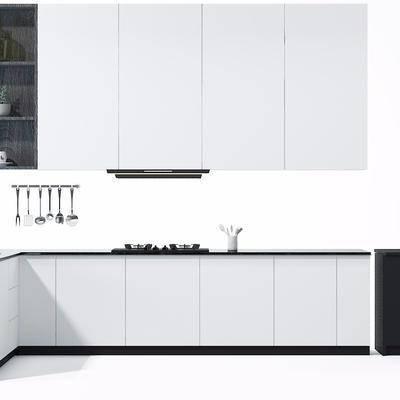 橱柜, 置物柜, 现代, 厨具