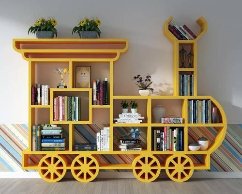 图书馆, 书柜, 书架, 装饰柜架