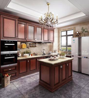 美式廚房, 廚房, 櫥柜